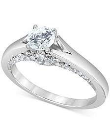 Macy's Star Signature Certified Round Solitaire Diamond Engagement Ring (1 ct. t.w.) in 14k White Gold
