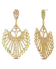 Rhinestone Drop Post Chendelier Earring