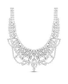 Rhinestone Cup Chain Bib Necklace