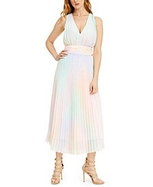 Hind Pleated Maxi Dress