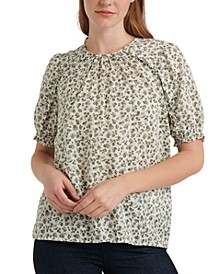 Lauren Printed Ruffled Top