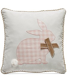 "Gingham Bunny 20"" x 20"" Decorative Pillow"