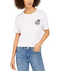 Juniors' Heritage Palm Cotton Graphic T-Shirt