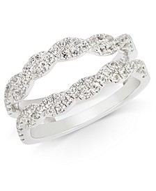 Diamond Twist Enhancer Ring (1/2 ct. t.w.) in 14k White Gold