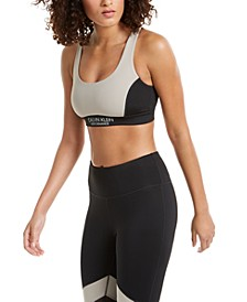 Colorblocked Cross-Back Medium-Impact Sports Bra