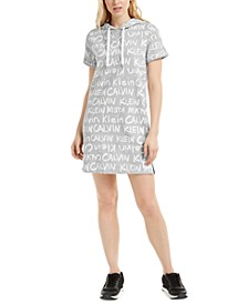 Brushed-Logo Hoodie Dress