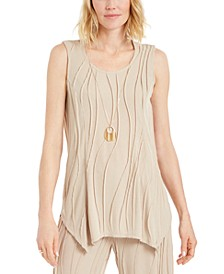 Petite Wavy-Texture Sleeveless Top, Created for Macy's