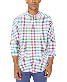 Men's Blue Sail Plaid Shirt, Created for Macy's