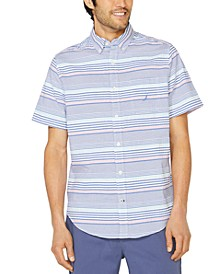 Men's Classic-Fit Seersucker Stripe Shirt