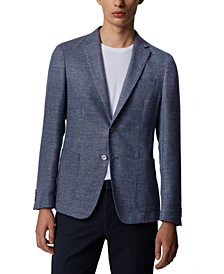 BOSS Men's Nold Open Blue Jacket