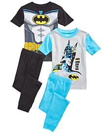 Little & Big Boys 4-Pc. Batman Pajama Set