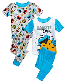 Toddler Boys 4-Pc. Sesame Street Pajama Set