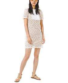 Lace Pleated-Bib Dress