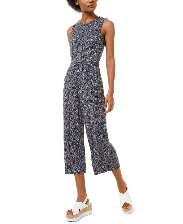 Michael Kors Printed Belted Jumpsuit