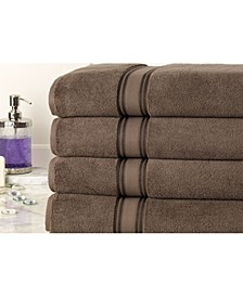 Zero Twist Oversized Bath Sheets Set - 4 Piece