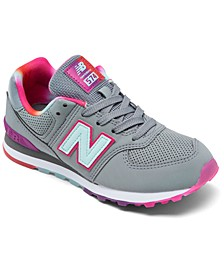 Little Girls 574 Rainbow Casual Sneakers from Finish Line