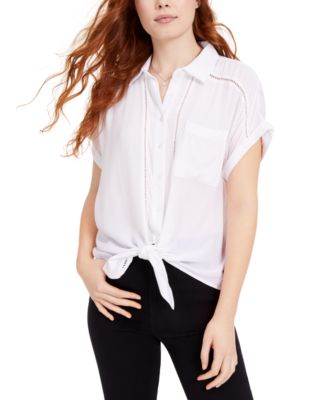 Planet Gold Womens Black Printed V-Neck T-Shirt M