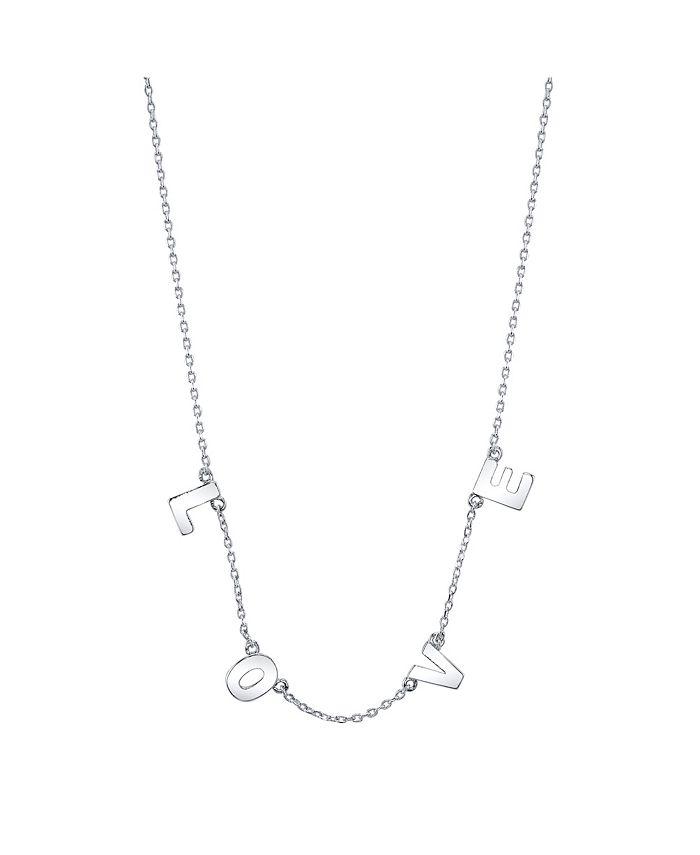 """Unwritten - """"L O V E"""" Necklace in Fine Silver Plate"""