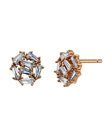 Rose Gold Flash Plated Swarovski Crystal Post Stud Earrings by David Tutera Everyday Celebrations