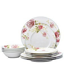 Peony Pageant 12-PC Dinnerware Set