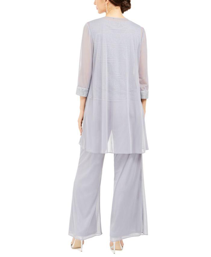 R & M Richards 3-Pc. Jacket, Lace Top & Wide-Leg Pants Set & Reviews - Women's Brands - Women - Macy's