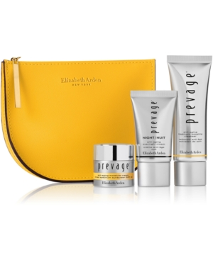 Receive a Free 4-pc Prevage skincare gift with any Prevage serum purchase. A $99.00 value!