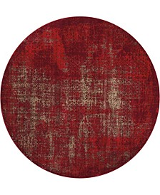 "Fate FAT01 Red 5'3"" Round Area Rug"