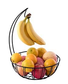 Vintiquewise Wire Metal Fruit Basket Holder with Banana Hanger