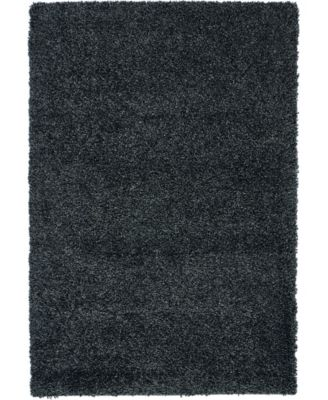 "Cali Shag CAL01 Charcoal 3'11"" x 5'11"" Area Rug"
