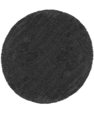"Cali Shag CAL01 Charcoal 7'10"" Round Area Rug"