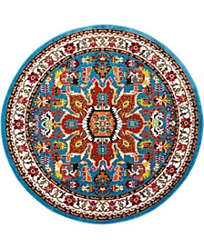 "Riverdale RIV06 Blue 5'3"" Round Area Rug"