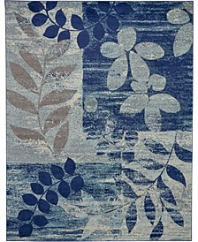 "Peace PEA01 Navy 8'10"" x 11'10"" Area Rug"