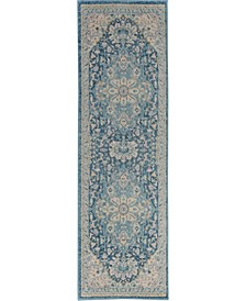 "Peace PEA07 Ivory 2'3"" x 7'3"" Runner Rug"