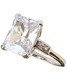 Grace Kelly Collection Rhodium Plated Official Engagement Ring