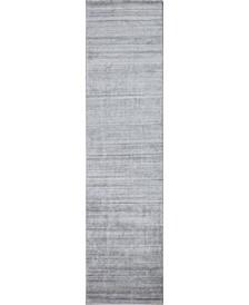 """Land T142 Gray 2'6"""" x 8' Runner Rug"""