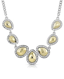Silver-Tone and Gold-Tone Teardrop Collar Necklace