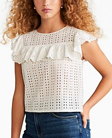 Openwork Cotton Blouse
