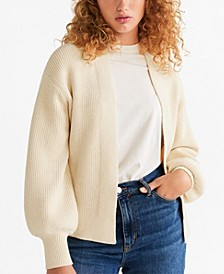 Puffed Sleeves Cardigan