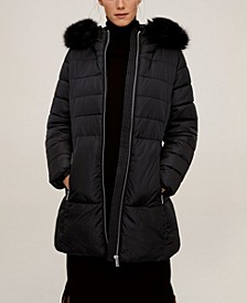 Detachable Faux Fur Hood Anorak