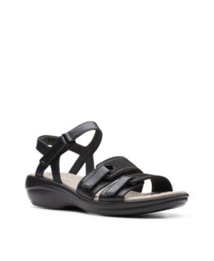 Clarks-Collection-Womens-Alexis-Shine-Flat-Sandals-Womens-Shoes