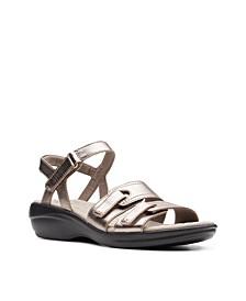 Collection Women's Alexis Shine Flat Sandals