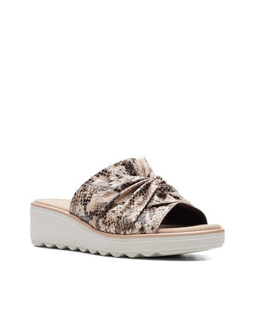 Clarks Collection Women's Jillian Leap Wedge Sandals