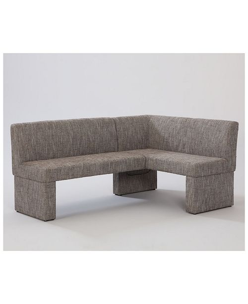 Chintaly Labrenda Neutral Fully Upholstered Bench Nook