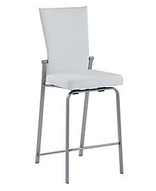 Molly Motion Back Counter Stool with Brushed Stainless Steel Base