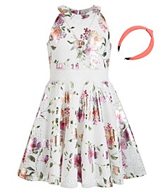 Big Girls Floral-Print Lace Dress