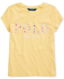 Big Girls Floral Logo Cotton Jersey T-Shirt