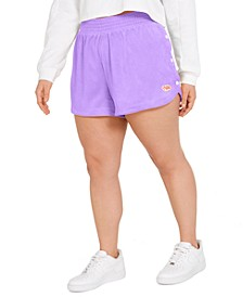 Plus Size Side-Snap Shorts