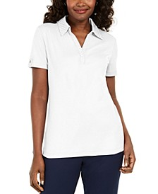Cotton Eyelet-Collar Top, Created for Macy's