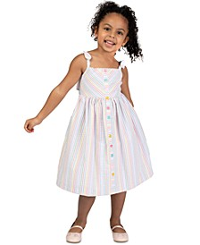Toddler Girls Striped Seersucker Dress