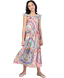 Big Girls 2-Pc. Tie-Dye Smocked Top & Maxi Skirt Set